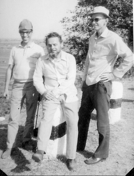 Ferdinand Luthiger, Dr Willi Dober and I.